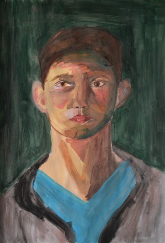 """Стела Маркова, специалност """"Графичен дизайн"""", Портрет на Константин Марков, 2018 /  Stella Markova, degree programme """"Graphic Design"""", Portrait of Konstantin Markov, 2018"""