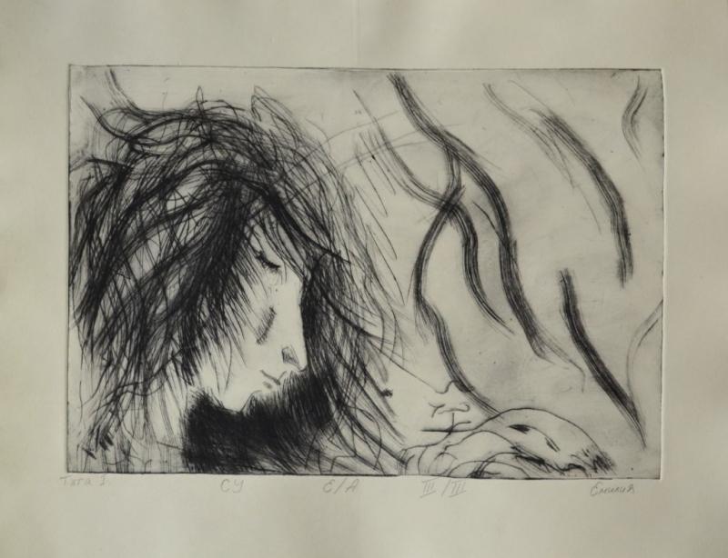 """Емилия Николова, специалност """"Изобразително изкуство"""", Тъга I, 2019 /  Emilia Nikolova, degree programme """"Fine Arts"""", Sadness I, 2019"""