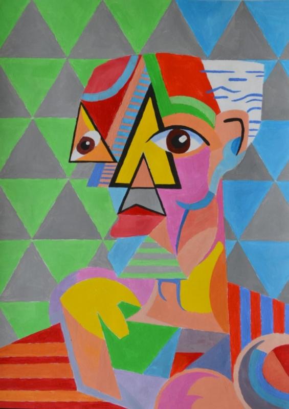 """Йордан Кечев, специалност """"Изобразително изкуство"""", Кубосимволично, 2018  / Jordan Kechev, degree programme """"Fine Arts"""",Cubo Symbolic , 2018"""